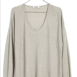 NWOT Madewell Grey Light Pullover Sweater